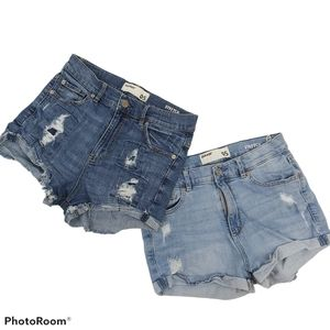 Bundle of 2 Garage Distressed Denim Shorts sz 5